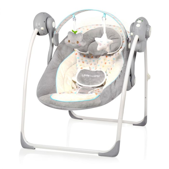 Baby Swing Schommel.Baby Budget Baby Swing Little World Dreamday Dots Baby Budget