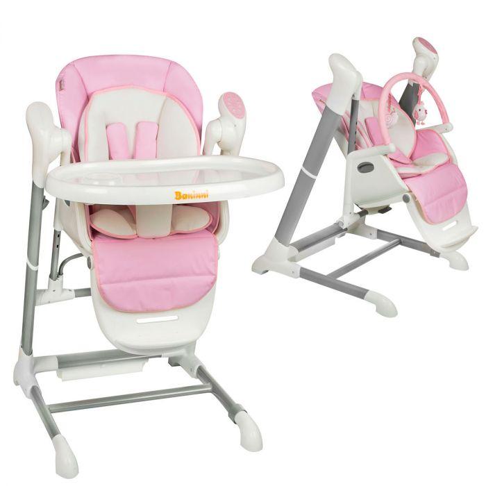 Kinderstoel Baby 0 Maanden.Baby Budget Kinderstoel Swing Baninni Ugo Roze Baby Budget